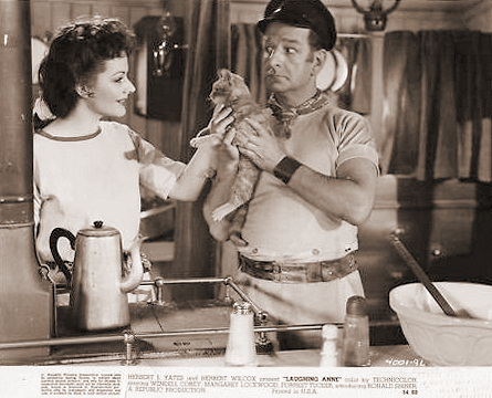 Margaret Lockwood (as Laughing Anne) and Ronald Shiner (as Nobby Clark) in a photograph from Laughing Anne (1953) (18)