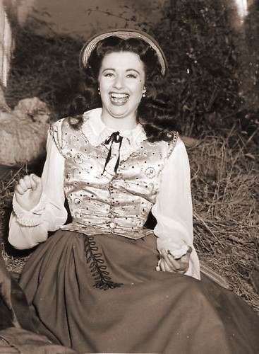 Margaret Lockwood laughs as she is caught in a candid snap from Hungry Hill
