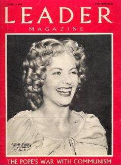 Leader magazine with Margaret Lockwood in Cardboard Cavalier.  27th November, 1948.