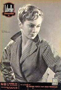 Libelle magazine with Joan Greenwood.  14th December, 1951, issue number 50.  (Belgian)