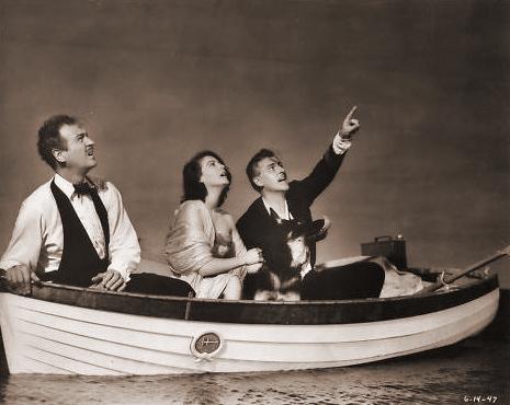 David Niven (as Henry Brittingham-Brett), Ava Gardner (as Lady Susan Ashlow) and Stewart Granger (as Sir Philip Ashlow) in a photograph from The Little Hut (1957) (7)