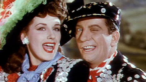 Sid Field (as Jerry Sanford) in a screenshot from London Town (1946) (1)