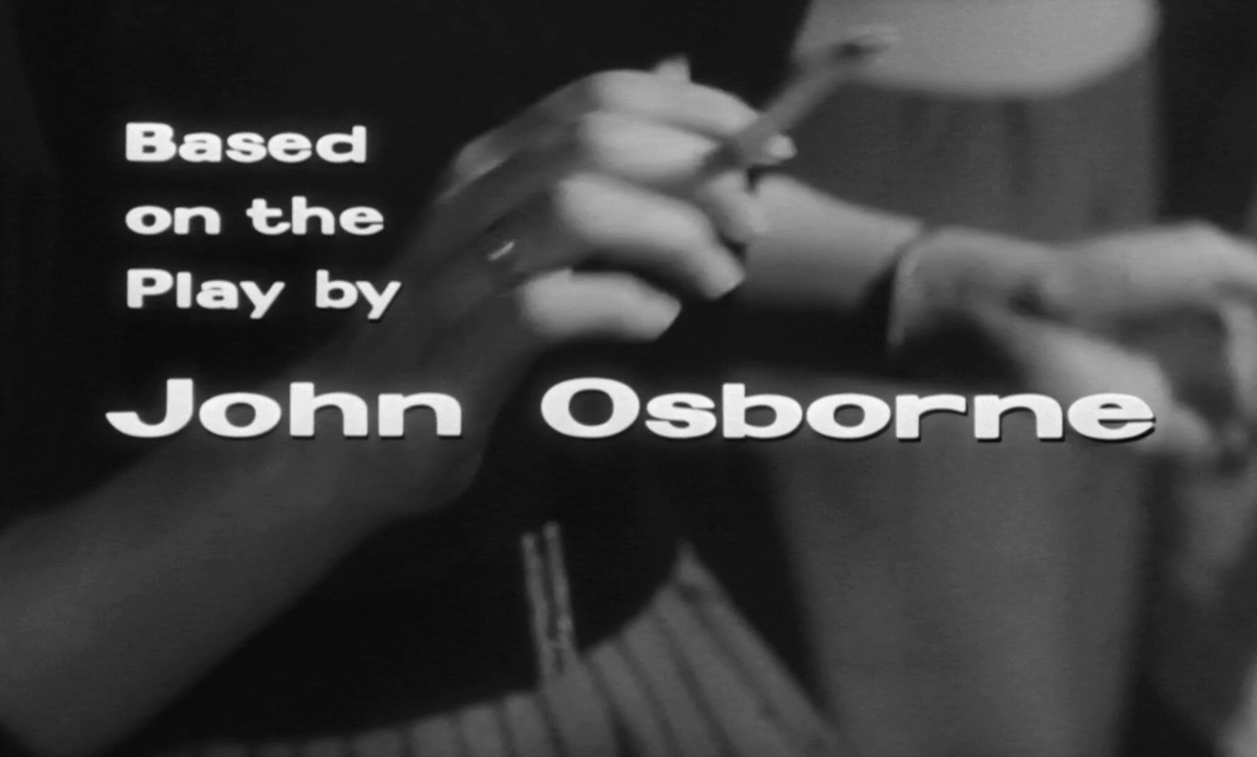 Main title from Look Back in Anger (1959) (7). Based on the play by John Osborne