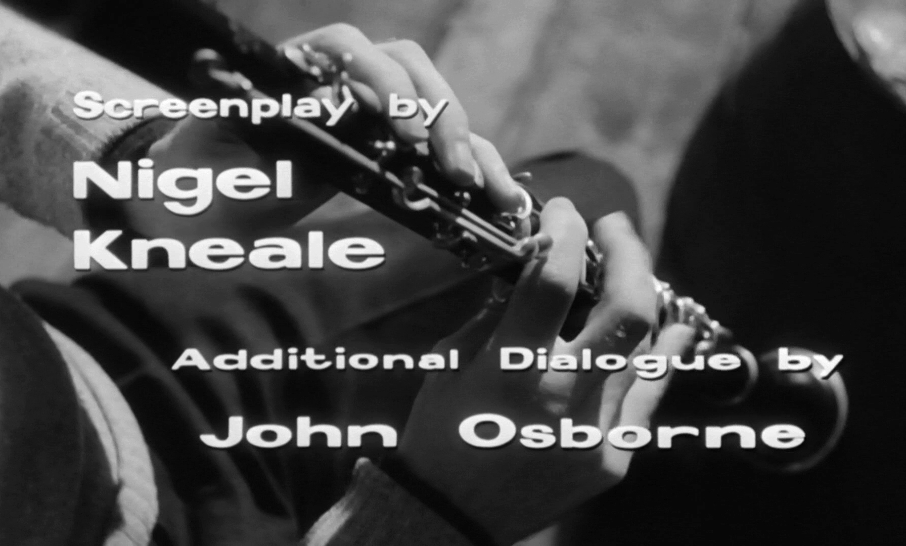 Main title from Look Back in Anger (1959) (8). Screenplay by Nigel Kneale. Additional dialogue by John Osborne