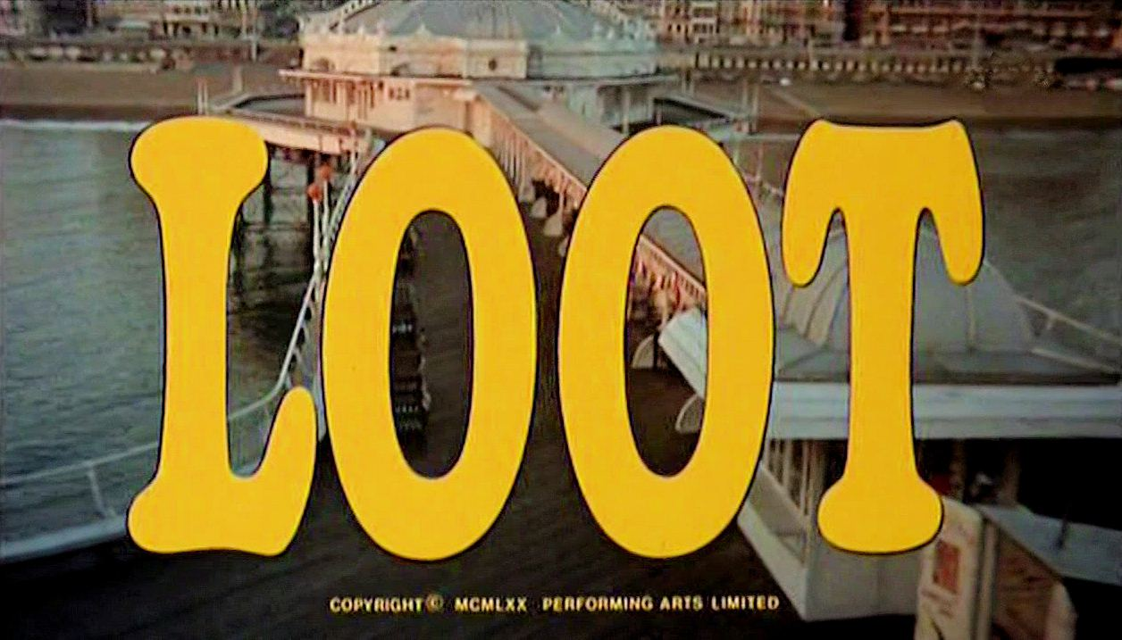 Main title from Loot (1970) (7).  Copyright 1970 Performing Arts Limited