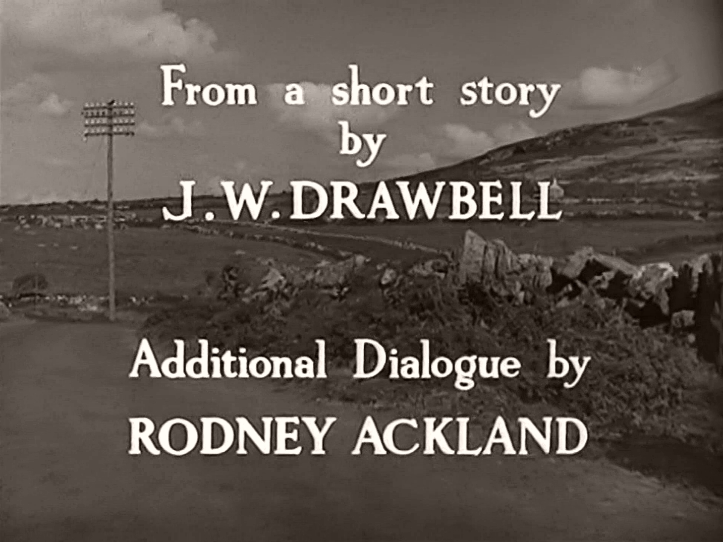 Main title from Love Story (1944) (7). From a short story by J W Drawbell, additional dialogue by Rodney Ackland