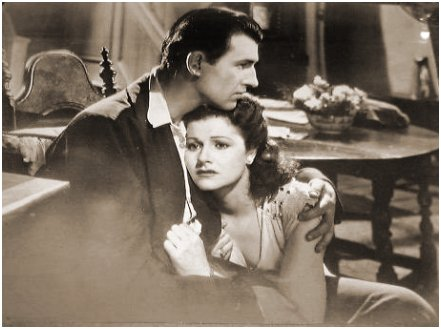 Stewart Granger (as Kit Firth) and Margaret Lockwood (as Lissa Campbell) in a photograph from Love Story (1944) (3)