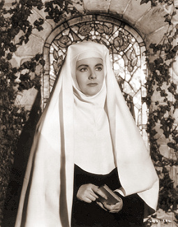 Lydia Garth (Margaret Lockwood) enters the nunnery in Madness of the Heart