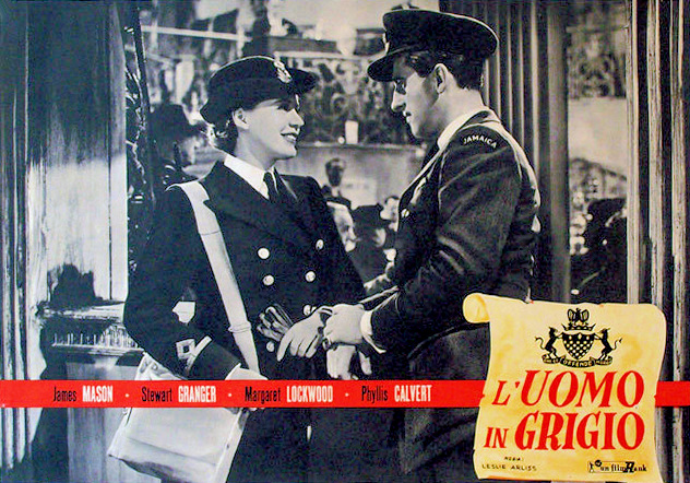 Italian lobby card from The Man in Grey (1943) (1)