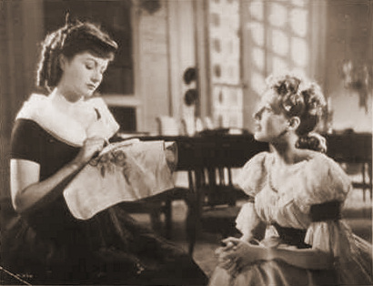 Margaret Lockwood (as Hesther Shaw) and Phyllis Calvert (as Clarissa Richmond) in a photograph from The Man in Grey (1943) (9)