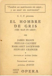 Spanish poster for The Man in Grey (1943) (1)