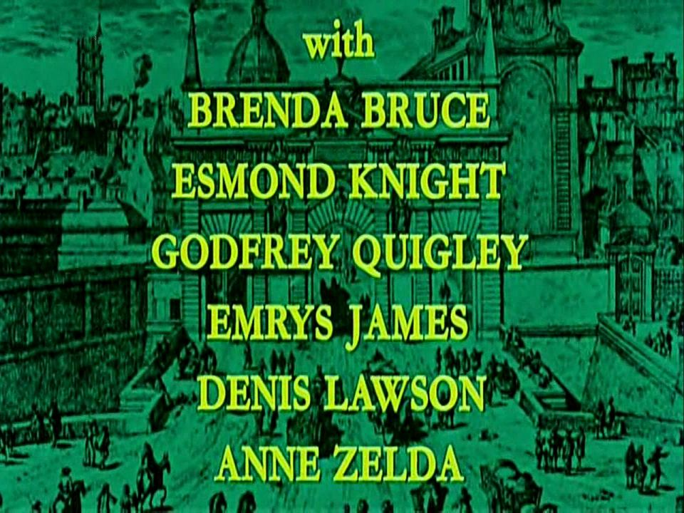 Main title from The Man in the Iron Mask (1977) (11).  With Brenda Bruce Esmond Knight, Godfrey Quigley, Emrys James, Denis Lawson, Anne Zelda