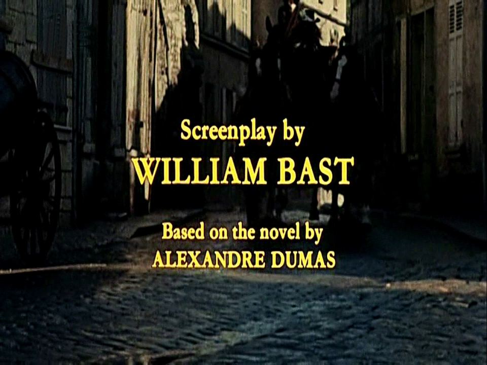 Main title from The Man in the Iron Mask (1977) (18).  Screenplay by William Bast.  Based on the novel by Alexandre Dumas
