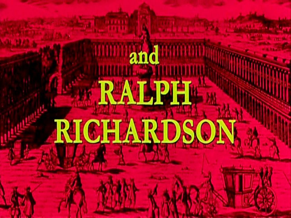 Main title from The Man in the Iron Mask (1977) (9).  And Ralph Richardson