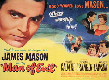 James Mason (as Lord Manderstoke) in a lobby card from Man of Evil [Fanny by Gaslight] (1944) (1)