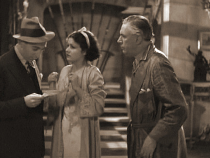Claude Hulbert (as Lord Rufus Paul), Margaret Lockwood (as Vera Barton) and Peter Gawthorne (as Mr. Barton, Vera's Father) in a screenshot from Man of the Moment (1935) (1)