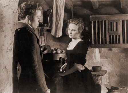 Richard Attenborough (as Francis Andrews) and Joan Greenwood (as Elizabeth) in a photograph from The Man Within (1947) (9)