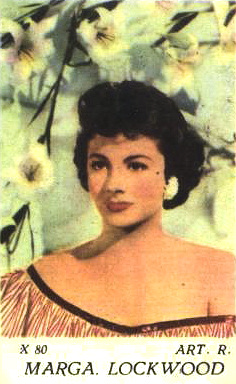 Dutch gum card featuring Margaret Lockwood