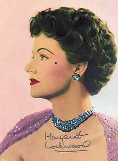 Autographed colour picture of Margaret Lockwood