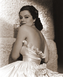 Margaret Lockwood in a slinky formal dress in a 1930s publicity photo for Paramount Pictures