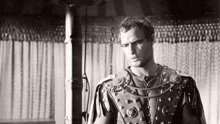 Marlon Brando (as Mark Antony) in a photograph from Julius Caesar (1953) (1)