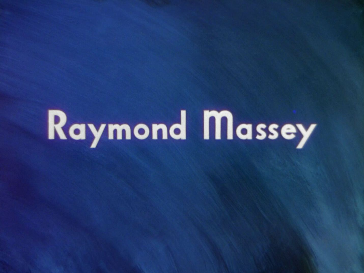 Main title from A Matter of Life and Death (1946) (5).  Raymond Massey