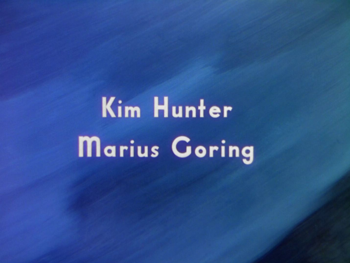 Main title from A Matter of Life and Death (1946) (7).  Kim Hunter Marius Goring