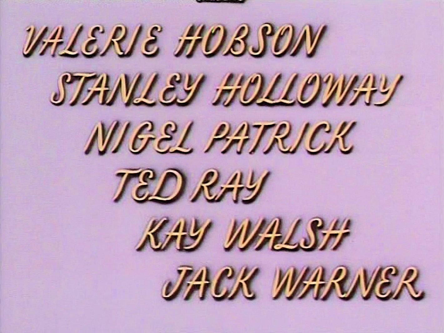 Main title from Meet Me Tonight (1952) (7).  Valerie Hobson Stanley Holloway, Nigel Patrick, Ted Ray, Kay Walsh, Jack Warner