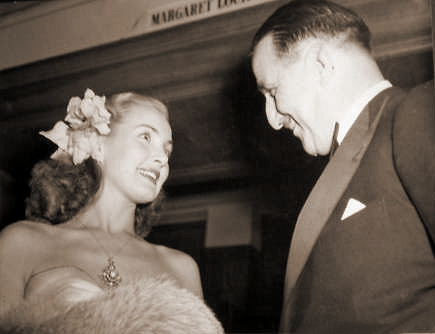 Patricia Roc meets 1940s film producer J. Arthur Rank