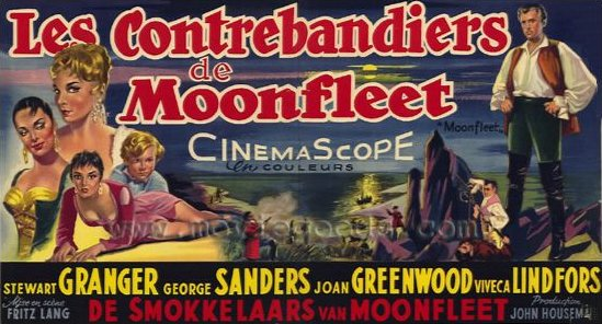 Belgian poster for Moonfleet (1955) (1)
