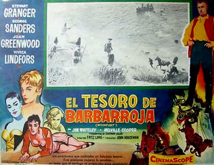 Mexican lobby card from Moonfleet (1955) (2)