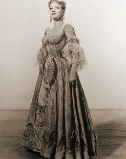 Joan Greenwood (as Lady Ashwood) in a photograph from Moonfleet (1955) (10)