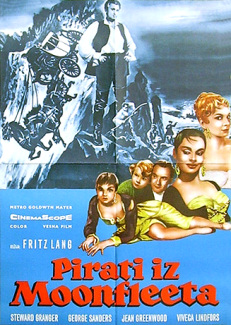 Yugoslav poster for Moonfleet (1955) (1)