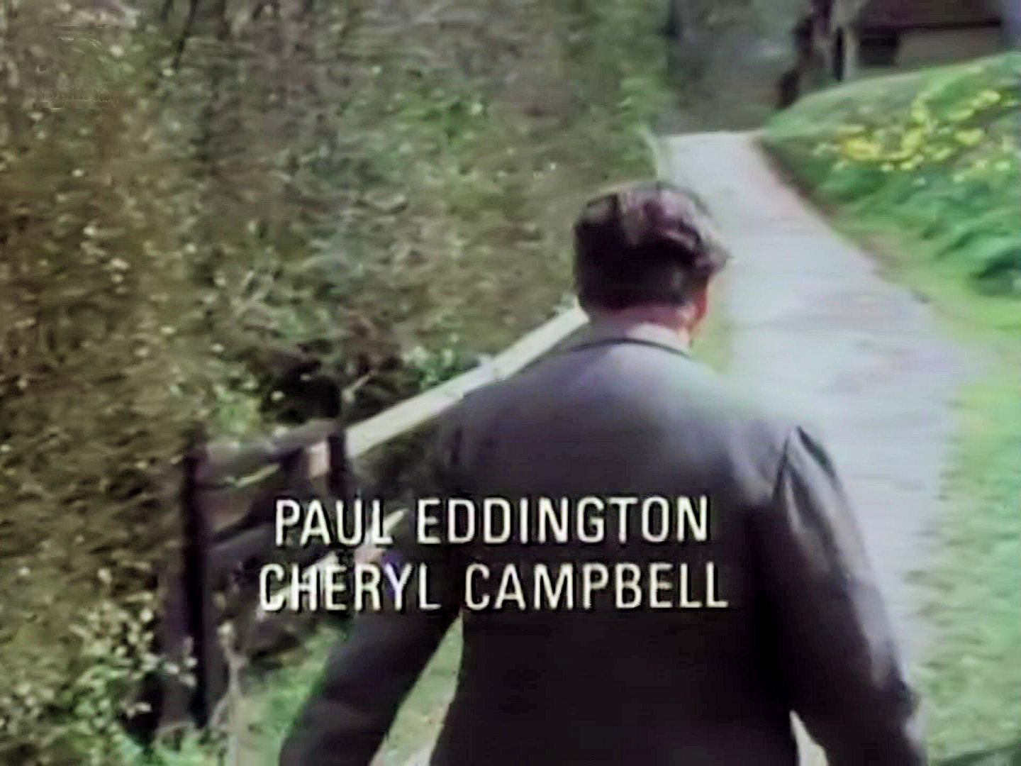 Main title from the 1986 'The Murder at the Vicarage' episode of Agatha Christie's Miss Marple (1984-1992) (5). Paul Eddington, Cheryl Campbell