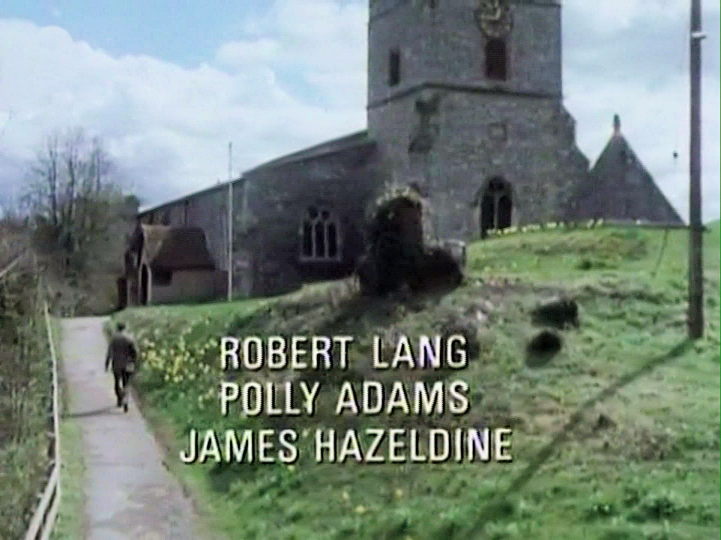 Main title from the 1986 'The Murder at the Vicarage' episode of Agatha Christie's Miss Marple (1984-1992) (6). Robert Lang, Polly Adams, James Hazeldine