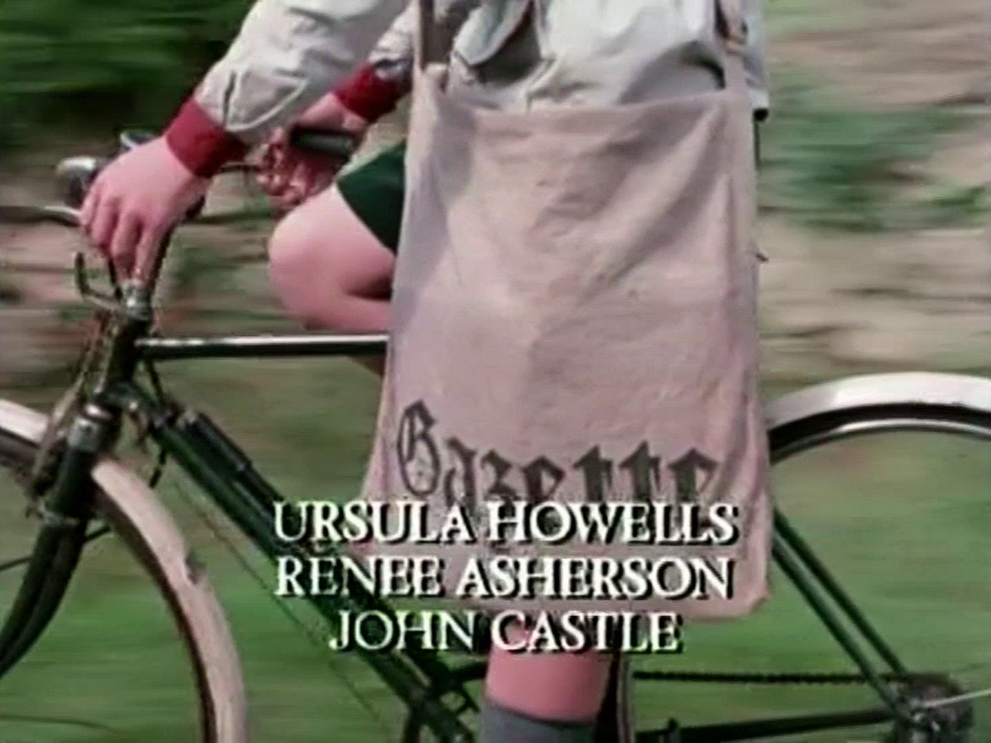Main title from the 1985 'A Murder Is Announced' episode of Agatha Christie's Miss Marple (1984-1992) (6). Ursula Howells, Renée Asherson, John Castle
