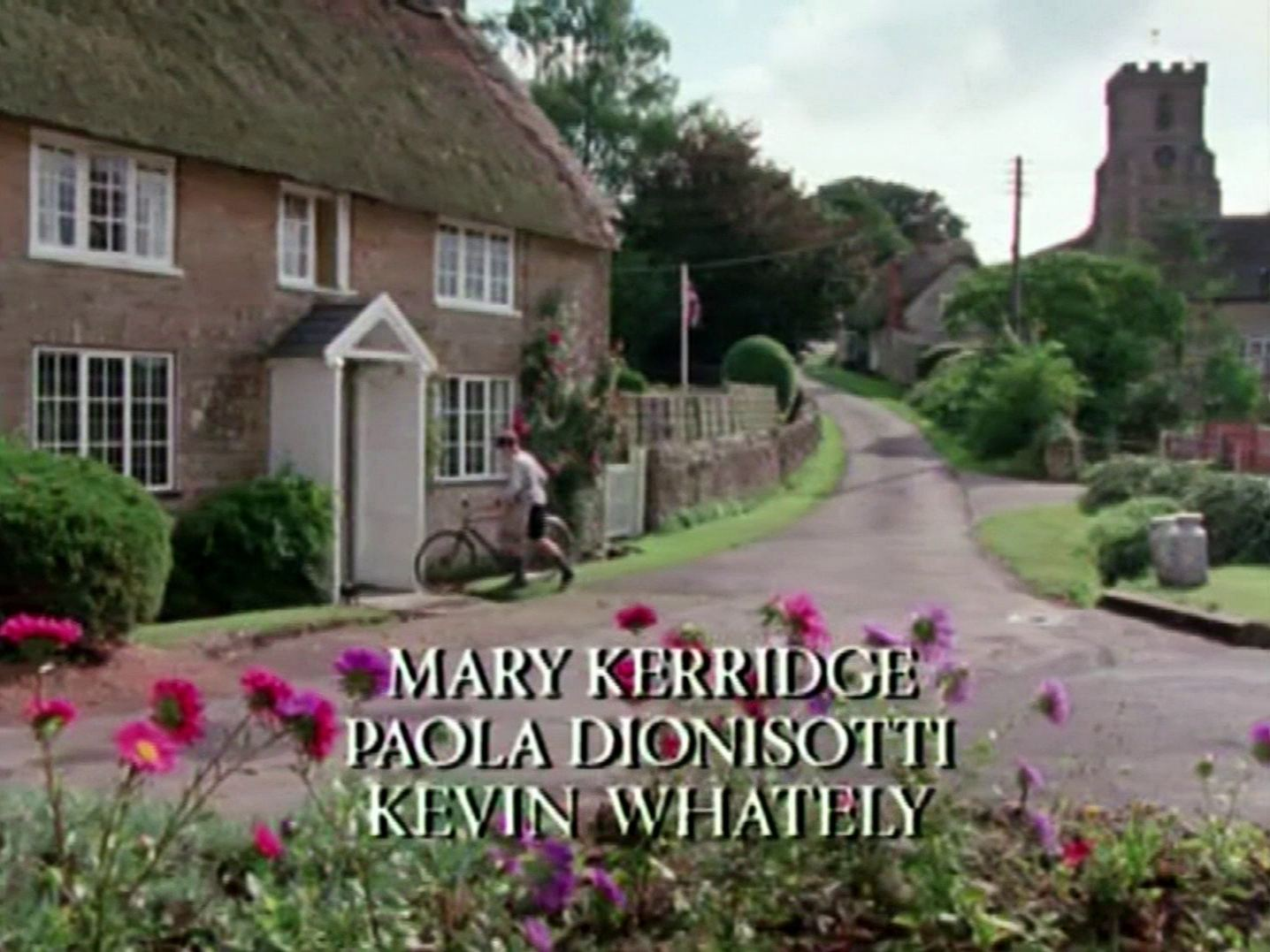 Main title from the 1985 'A Murder Is Announced' episode of Agatha Christie's Miss Marple (1984-1992) (8). Mary Kerridge, Paola Dionisotti, Kevin Whately