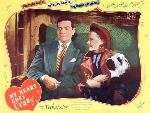 American poster for My Heart Goes Crazy [London Town] (1946) (1)