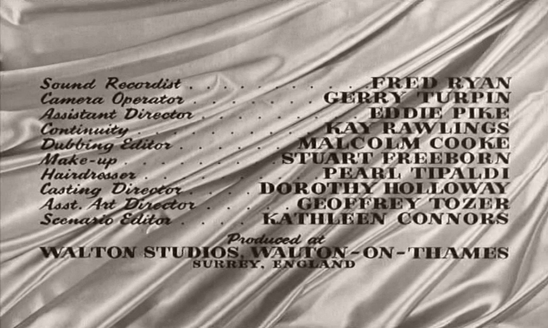 Main title from The Naked Truth (1957) (7).  Produced at Walton Studios Walton-on-Thames, Surrey, England