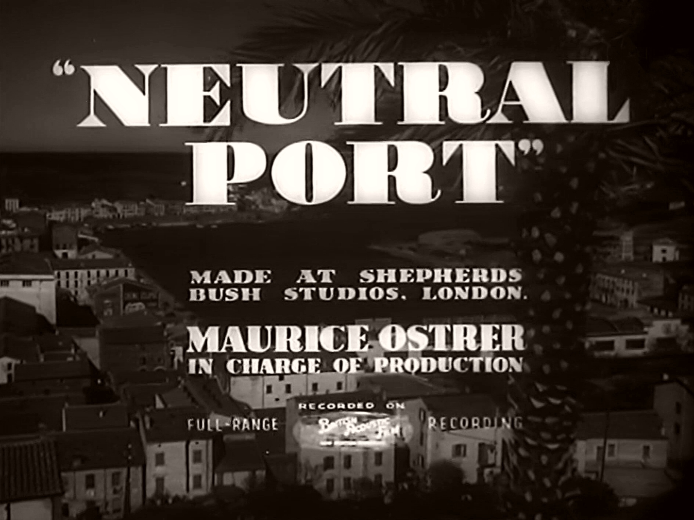 Main title from Neutral Port (1940) (3)