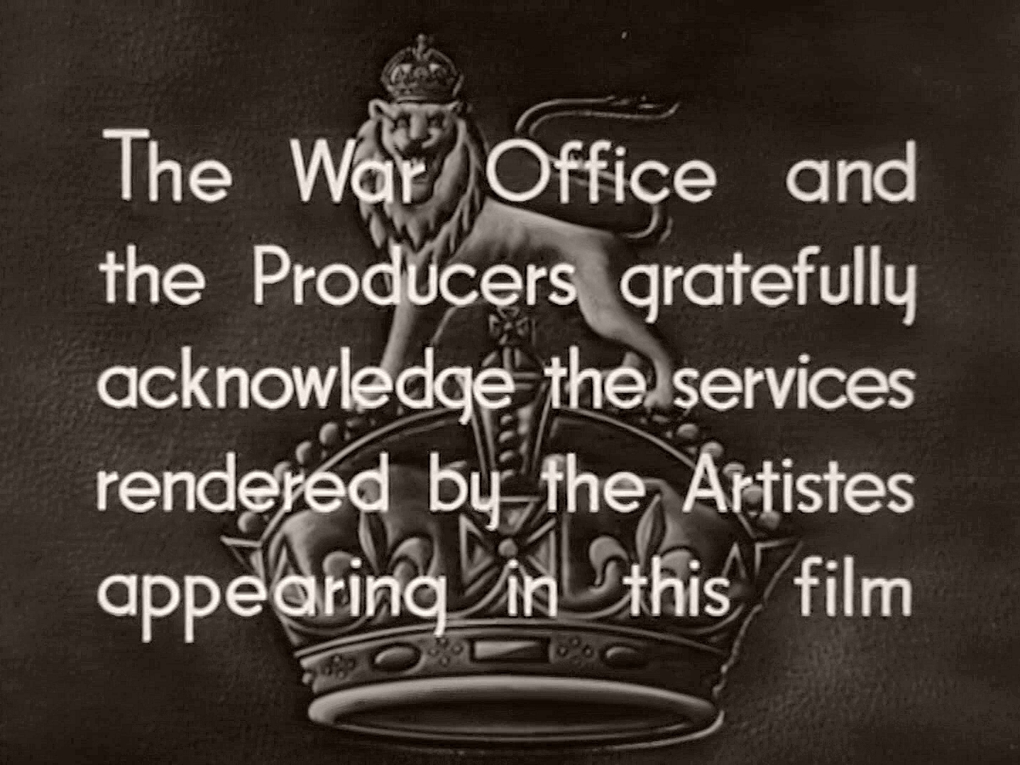 Main title from The Next of Kin (1942) (6)