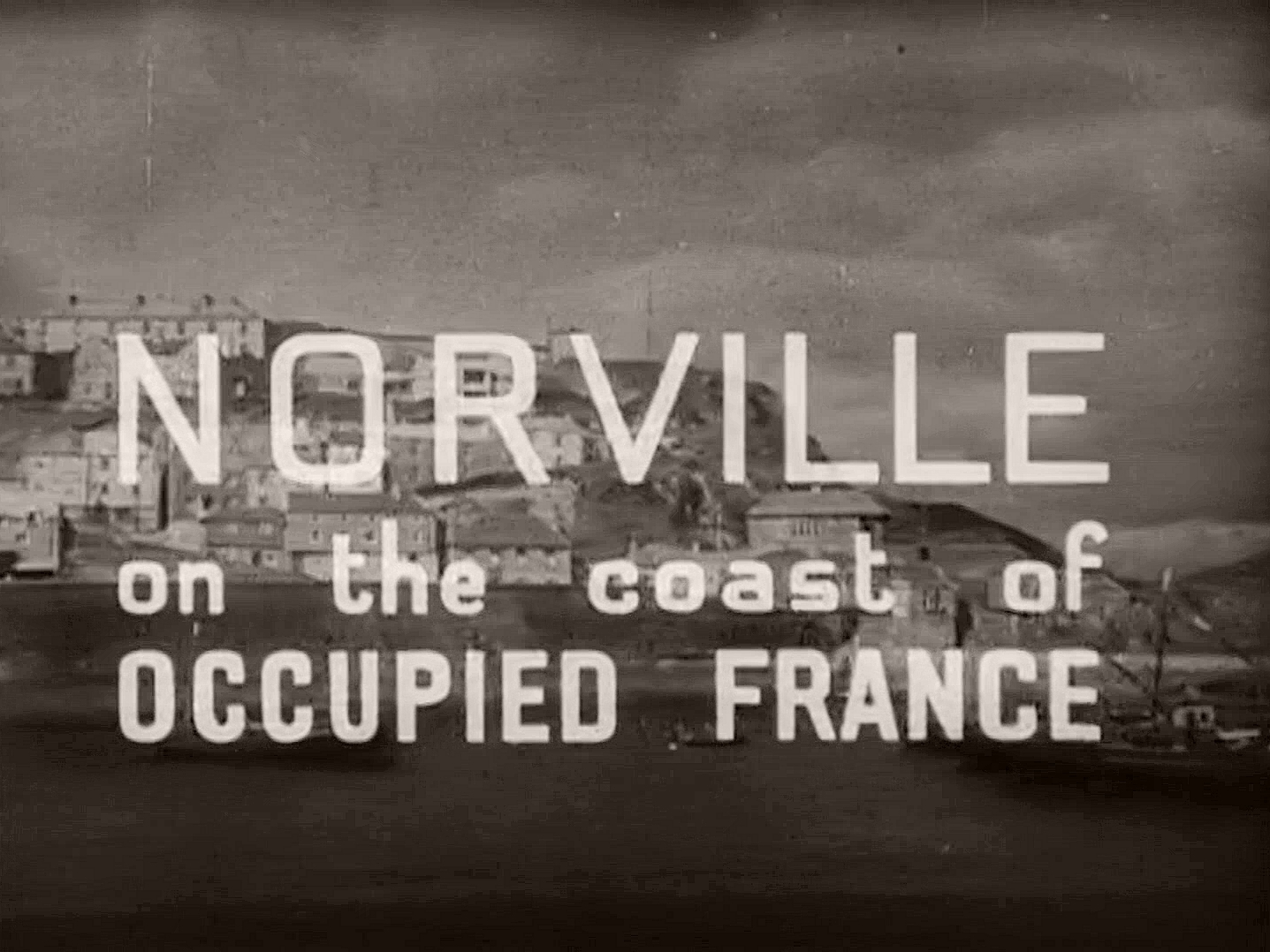 Screenshot from The Next of Kin (1942) (1). Norville on the coast of occupied France