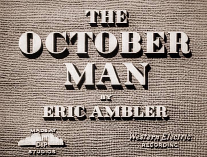 Main title from The October Man (1947)