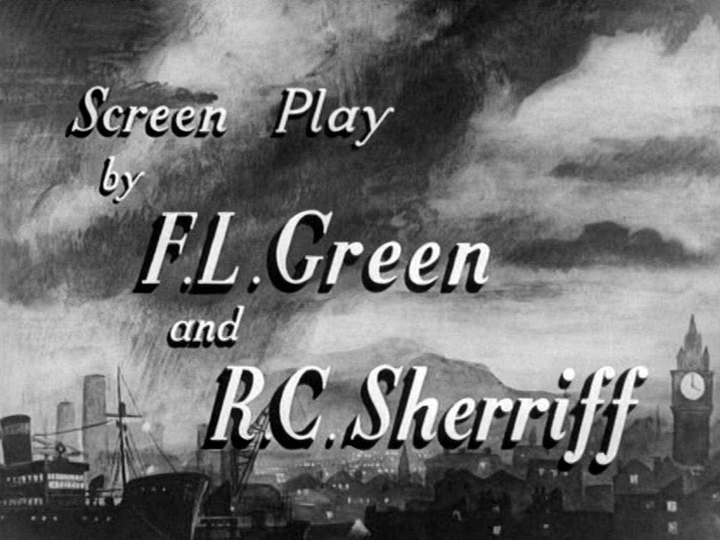 Main title from Odd Man Out (1947) (10).  Screen play by F L Green and R C Sherriff