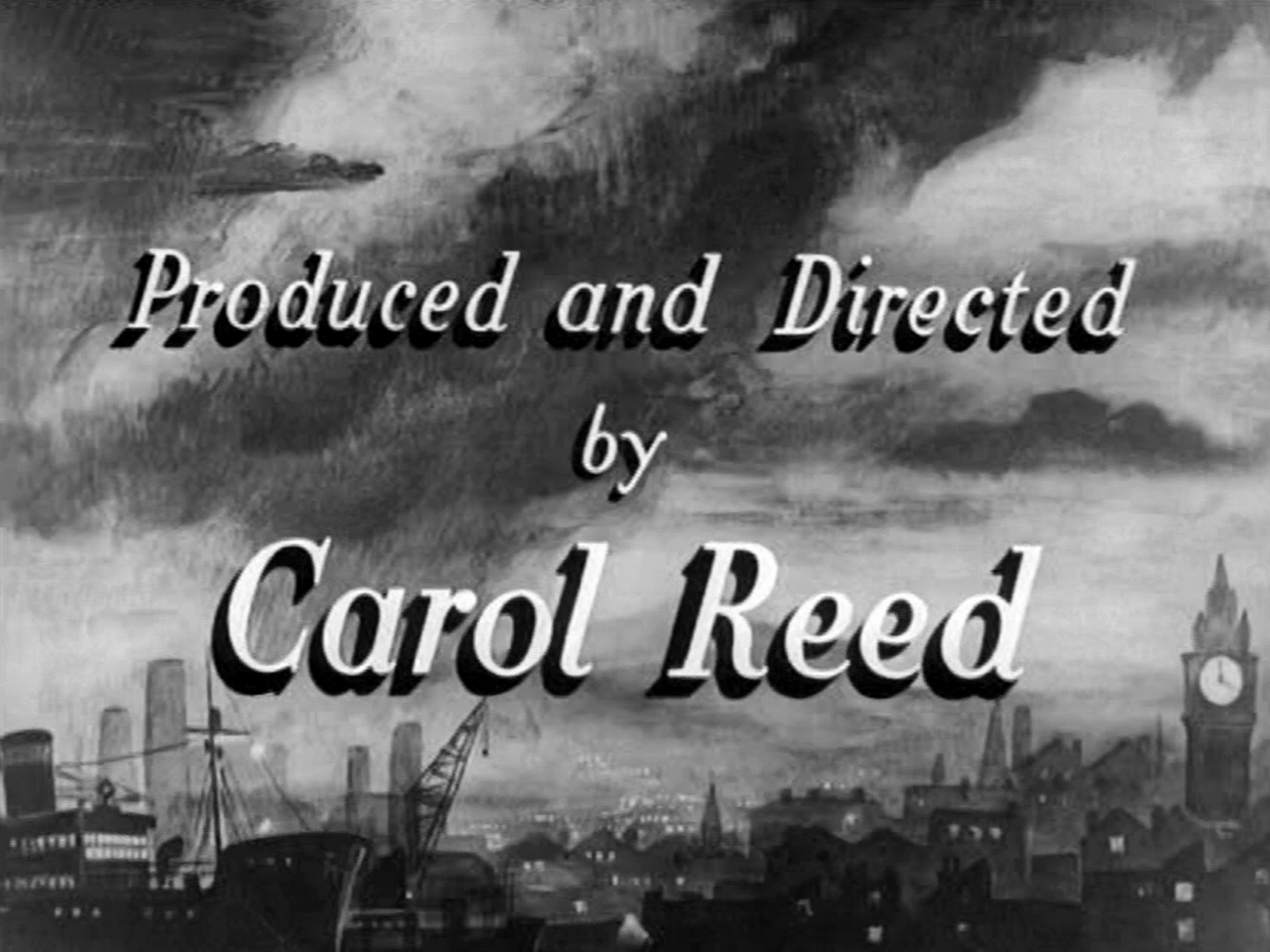 Main title from Odd Man Out (1947) (12).  Produced and Directed by Carol Reed