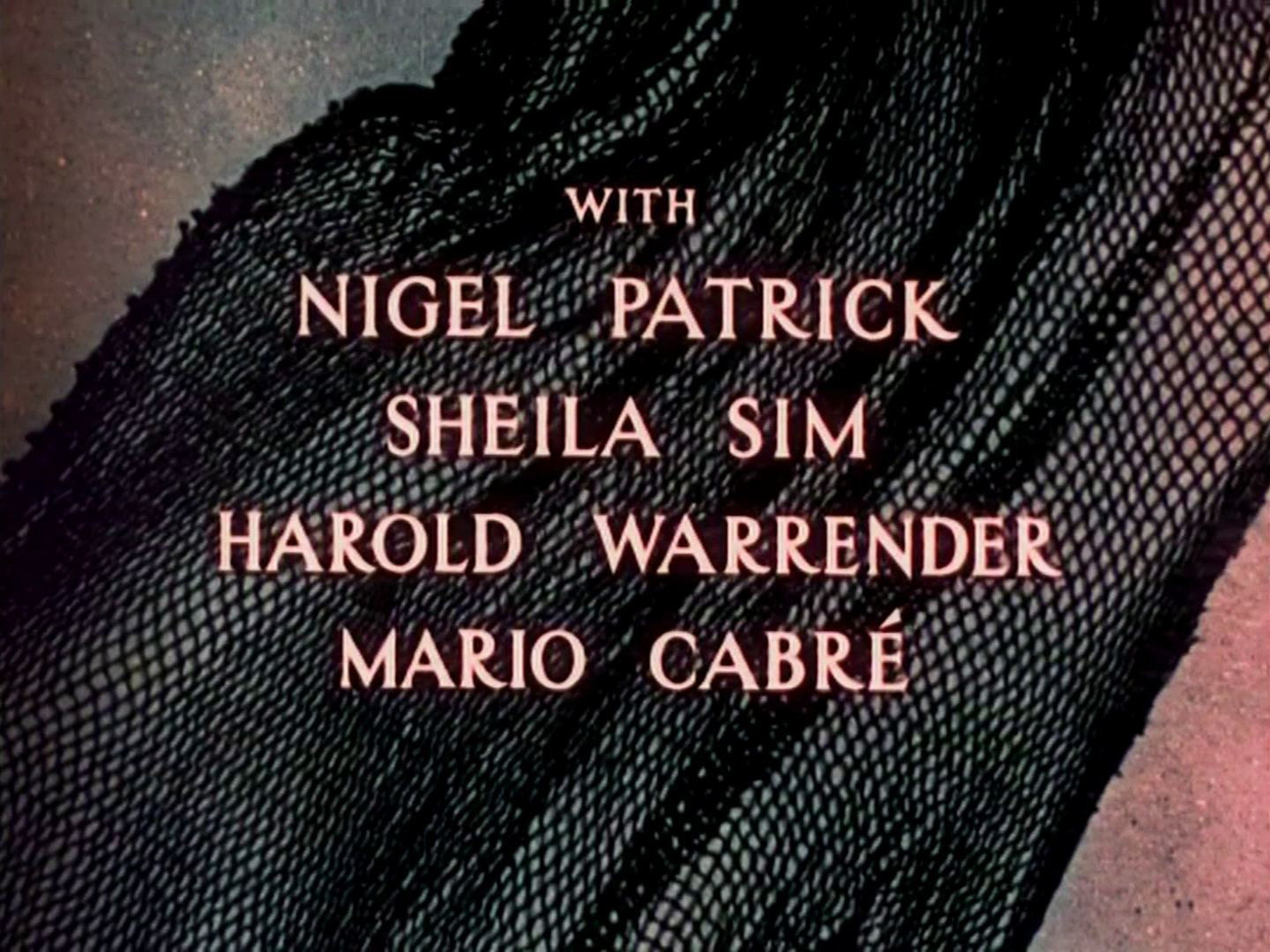 Main title from Pandora and the Flying Dutchman (1951) (3). With Nigel Patrick, Sheila Sim, Harold Warrender, Mario Cabré