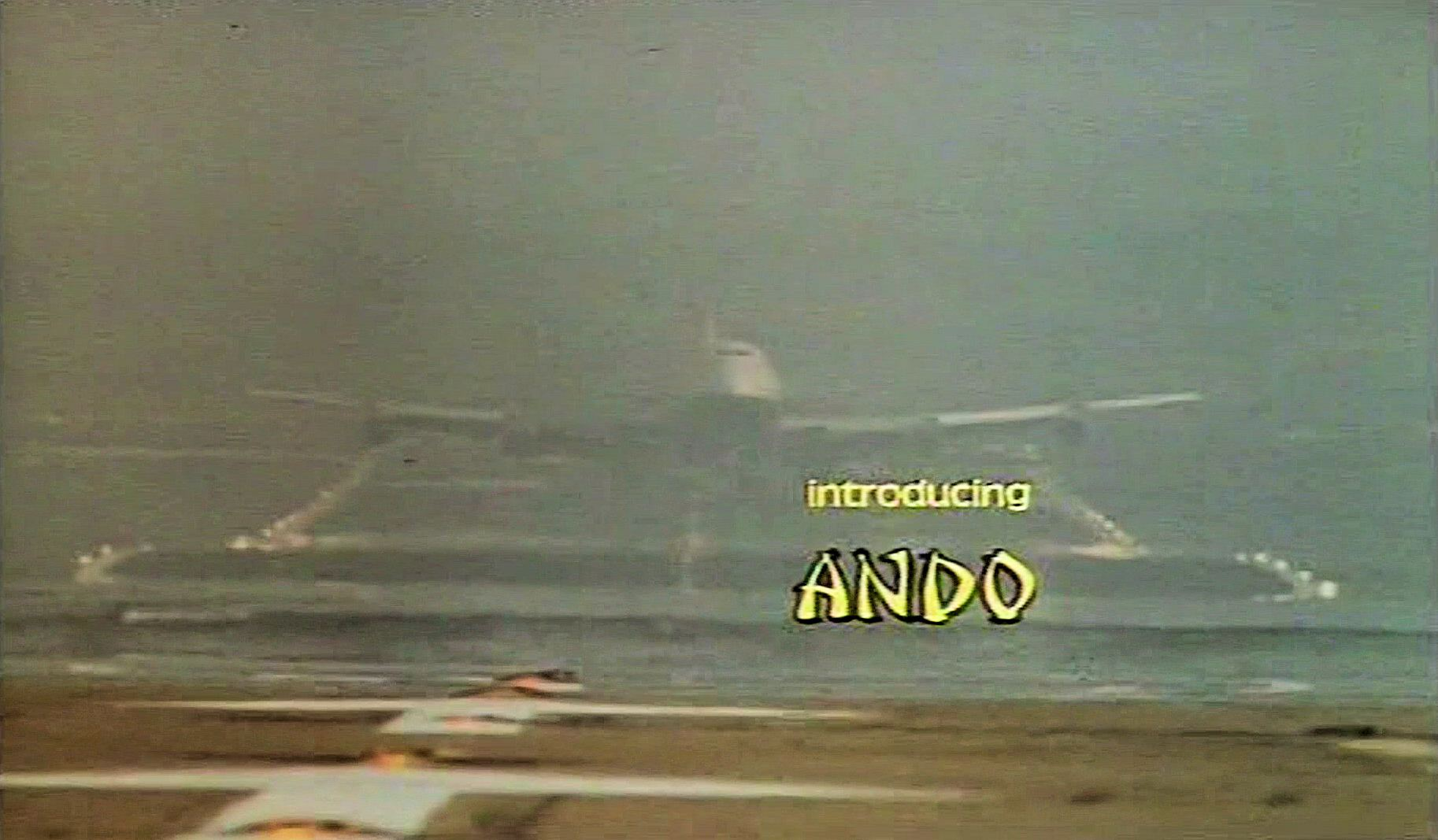 Main title from Paper Tiger (1975) (6).  Introducing Ando