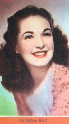 Guillen Chocolate Card featuring British actress Patricia Roc