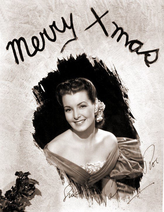 Patricia Roc wishes her fans a very merry Xmas in this signed greetings card