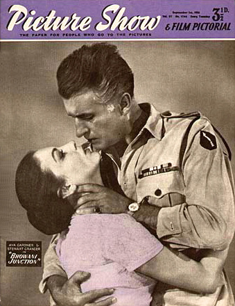 Picture Show magazine with Ava Gardner and  Stewart Granger in Bhowani Junction.  1956.